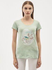T-Shirt aus Bio-Baumwolle mit Vogel-Print - ORGANICATION