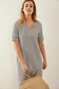 Kleid mit Streifen aus Bio-Baumwolle GOTS - LANIUS