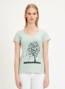 T-Shirt aus Bio-Baumwolle mit Baum-Print - ORGANICATION