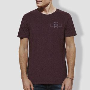 "Herren T-Shirt, ""Skarabäus"""", Grape Red - little kiwi"