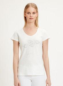 T-Shirt aus Bio-Baumwolle mit Mohnblumen-Print - ORGANICATION