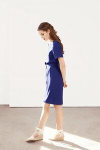 blaues Kleid Columbine aus Viskose - ME&MAY