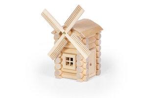 Windmühle Holzbaukasten mit 47 Teilen - Varis Toys