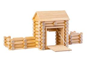 Holzbaukasten Fort mit 80 Teilen - Varis Toys