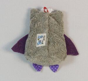 """Lavendelkissen """"Eule"""", Bio Dinkelkörner gemischt mit Bio Lavendel ,Farbe: grau (EUM-3) - PAT & PATTY"""