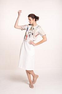 Bluse mit Rüschen - gemustert - Mila.Vert