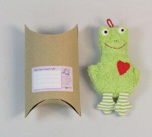 """Lavendelkissen """"Frosch"""", Lavendel/Dinkelkörner Kissen ,Farbe: grün (FKM-5) - Pat und Patty"""
