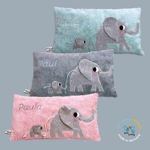 """Personalisierte Kuschelkissen """"Elefanten"""" mit ihre Eigene Wünschname - PAT & PATTY"""