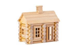 Miniaturhaus Bausatz aus Holz 55 Teile - Varis Toys