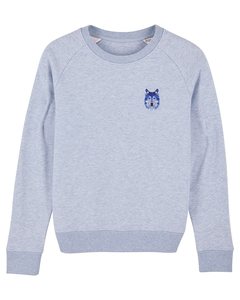 "Damen Sweatshirt aus Bio-Baumwolle ""Wolf"" - University of Soul"