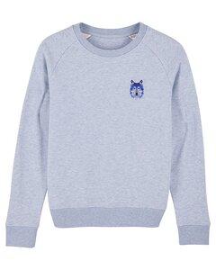 "Damen Sweatshirt aus Bio-Baumwolle ""Wolf"" - University of Soul"