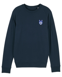 "Herren Sweatshirt aus Bio-Baumwolle ""Wolf"" - University of Soul"