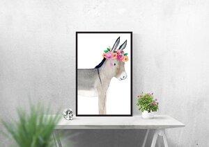 Watercolor Poster Esel - Eykaffee