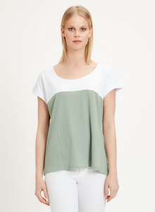 T-Shirt aus Leinen Bio-Baumwolle Mix - ORGANICATION