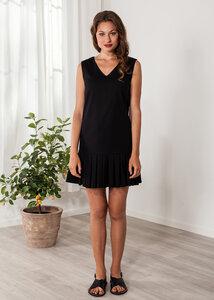 Kurzes Kleid schwarz Cocktailkleid Baumwolle - SinWeaver alternative fashion