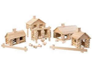 Holzbaukasten 222 perfekt geschliffene Holzteile ohne Chemikalien und Farben hergestellt. - Varis Toys
