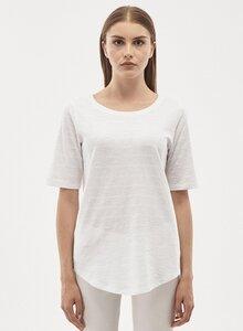 T-shirt aus Bio Baumwolle mit halblangen Ärmeln  - ORGANICATION