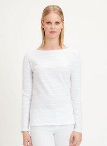 Langarmshirt aus Bio-Baumwolle mit Bateau-Ausschnitt - ORGANICATION
