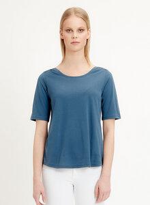 T-shirt aus Tencel Baumwolle Mix mit halblangen Ärmeln - ORGANICATION