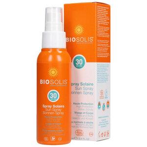Sonnenspray Bio LSF 30, Körper & Gesicht - Biosolis