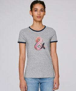 Bicolor T-Shirt mit Motiv / &endlichkeit - Kultgut
