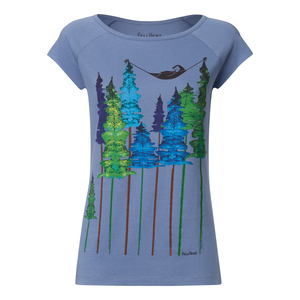 Damen T-Shirt Wood Bio Fair - FellHerz