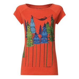 Damen T-Shirt Wood Bio Fair - FellHerz