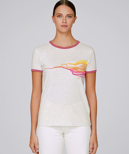 Damen Bicolor T-Shirt mit Motiv / FADED - Kultgut