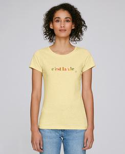 Basic T-Shirt mit Motiv / c'est la vie  - Kultgut