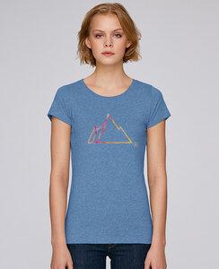 Basic T-Shirt mit Motiv / FADED MOUNTAIN - Kultgut