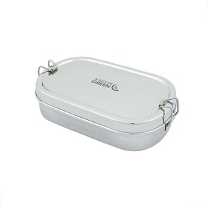 Edelstahl Lunchbox Oval – inkl. Minibox - A Slice of Green