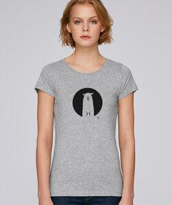 Basic T-Shirt mit Motiv /  Icebear - Kultgut