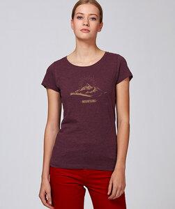Basic T-Shirt mit Motiv /  Mountain - Kultgut