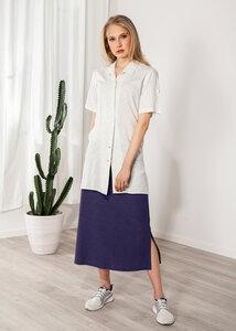 Langer Rock Leinen Maxirock grau oder blau - SinWeaver alternative fashion