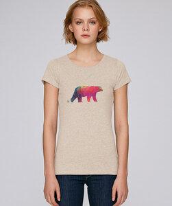 Basic T-Shirt mit Motiv / Polarbär - Kultgut