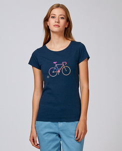 Basic T-Shirt mit Motiv / COLORFUL BIKE - Kultgut