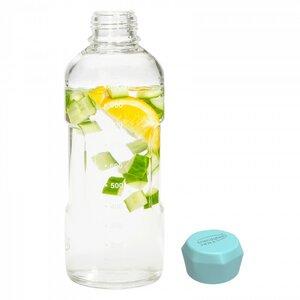 Trinkflasche Blue Ocean aus Glas 1000 ml - Trendglas Jena