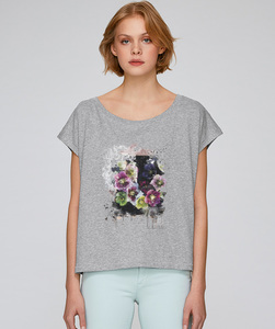 LIMITED EDITION Oversize T-Shirt  mit Motiv / Fleure de Automne - Kultgut