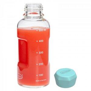 Trinkflasche Blue Ocean aus Glas 500 ml - Trendglas Jena