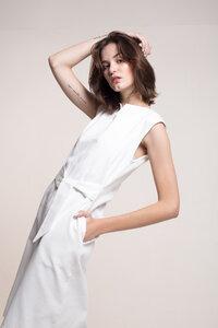 Jeans Kleid mit Gürtel - Mila.Vert