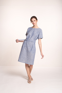 Hanf Kleid mit V-Ausschnitt - Mila.Vert