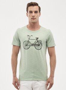 T-Shirt aus Bio-Baumwolle mit Fahrrad-Print - ORGANICATION