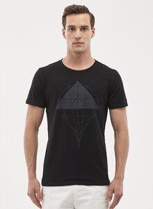 T-Shirt aus Bio-Baumwolle mit geometrischem Druck - ORGANICATION