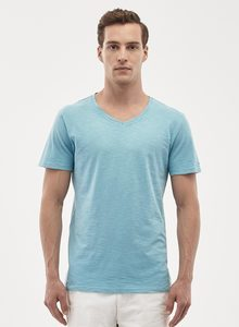 Basic T-Shirt aus Bio-Baumwolle mit V-Ausschnitt - ORGANICATION