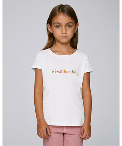 T-Shirt mit Motiv / c'est la vie  - Kultgut