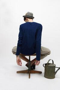 KALIMERIS, Bio Longsleeve für Männer - Green-Shirts