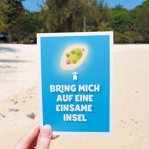 Postkarte Einsame Insel - Bow & Hummingbird