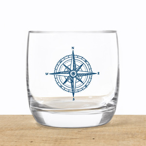 Kristallglas Kompass - Bow & Hummingbird