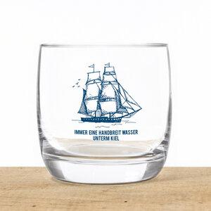 """Kristallglas """"Wasser unterm Kiel"""" - Bow & Hummingbird"""