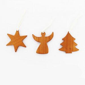 3er Set Baumschmuck aus Holz - Mitienda Shop